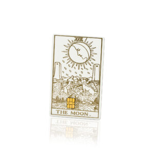 Tarot Card The Moon Lion Card